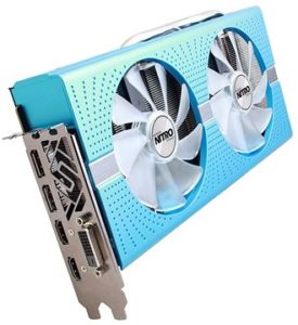 grafcika karta SAPPHIRE NITRO+ Radeon RX 580 Special Edition METAL BLUE