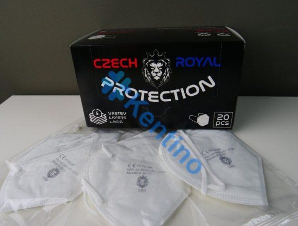 Český Respirátor FFP2 od značky Czech Royal Protection (20ks)