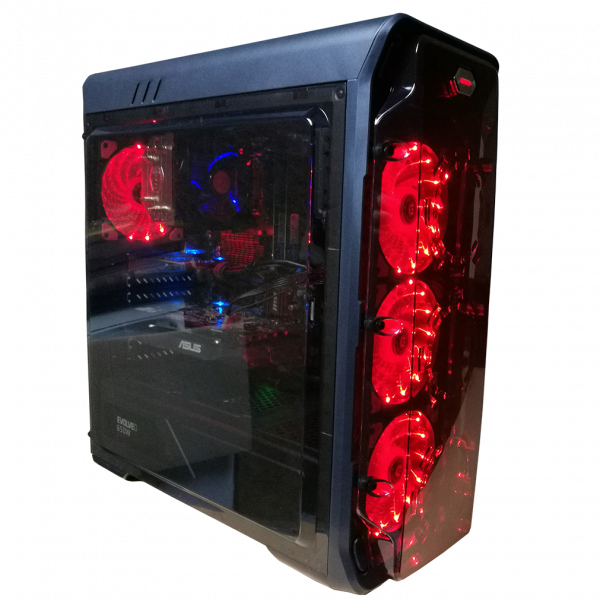 Herní PC Gaming 988B CPU: 4.1 Ghz, 480 GB SSD, RX580 8gb, 16GB DDR, HDD