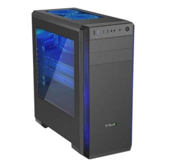 Evolveo T4, 6 jader (12), AMD RX 580 8GB, HDD+SSD, 16GB DDR4