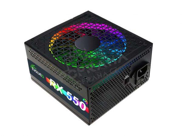 EVOLVEO RX 550 RGB LED 80Plus 550W