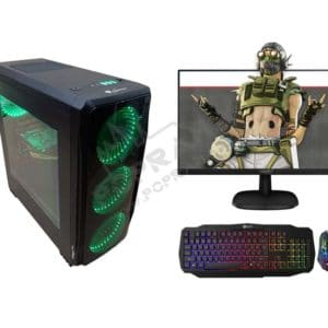 Cheapest Gaming PC Kit / DDR4 8GB / i3-9100F 4.2GHz / RX 570 / SSD + Monitor + Keyboard and Mouse