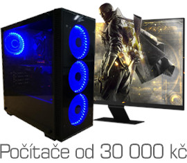 Gaming computers from 30,000 CZK