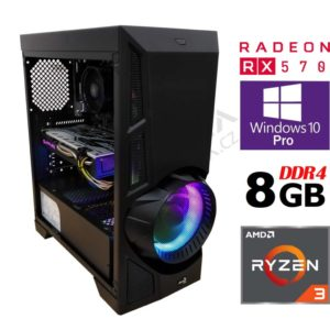 Iron Gaming Computer Rx 570 4GB PLUS / 8GB DDR4 2666MHz / 240GB SSD / Ryzen 3 1200 - Unlocked