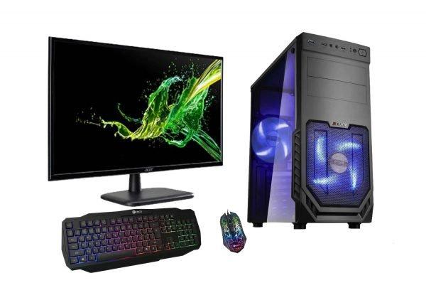 Herní sestava Alpha PC – monitor, klávesnice a myš
