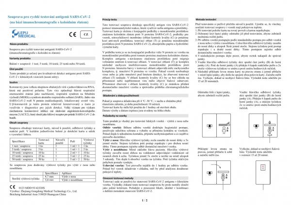 Lepu Medical SARS-CoV-2 Antigen Rapid Test Kit 1 kus