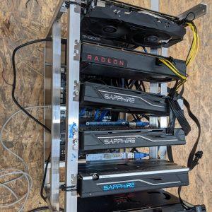 Mining Rig 6x 8GB GPU 180MH/S