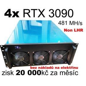 Mining rig – 4x 3090NON LHR – 481 MH/s